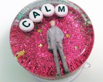MADE TO ORDER: Weird Bathroom Decor - Calm, Art to Hang in Your Shower, Word of the Year, Inspiraitional Reminder