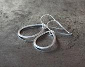 Large Drop Earrings, Silver Teardrop Dangle, Sterling Silver Earrings, Textured Metal, Everyday Earrings, Versatile Look, Minimalist Jewelry