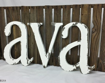 WOODEN LETTERS | Wall Letters | Wooden Name Letters | 10 inches tall | Wood Letters for Nursery | Nursery Wall Art | Painted Wood Letters