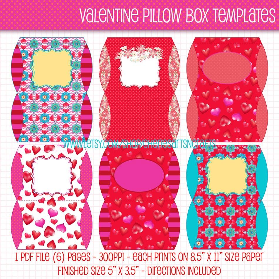 valentine pillow box templates valentine pillow boxes