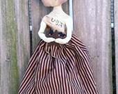 Americana Doll Primitive Folk Art