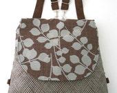 backpack purse, messenger crossbody bag ,convertible bag, fabric tote bag ,shoulder handbag, everyday purse, zipper bag, fit ipad