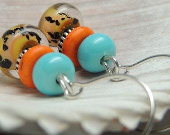 ADVENTURER 2 Handmade Lampwork Bead Dangle Earrings