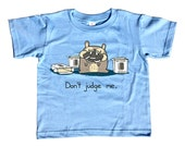 Don't Judge Me Kids T-Shirt - Cute Funny Foodie TShirt - Youth and Toddler Sizes