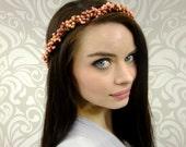 Bridal Crown, Bridal Headpiece Blush, Hair Accessory, Bridal Crown, Bridal Hair Wreath, Boho Crown, Bridal Circlet, Bridal Head Piece, Berry