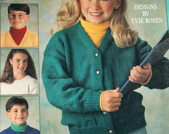 Sweater Knitting Patterns Back to Basics Leisure Arts 2274 Children Vintage Paper Original NOT a PDF