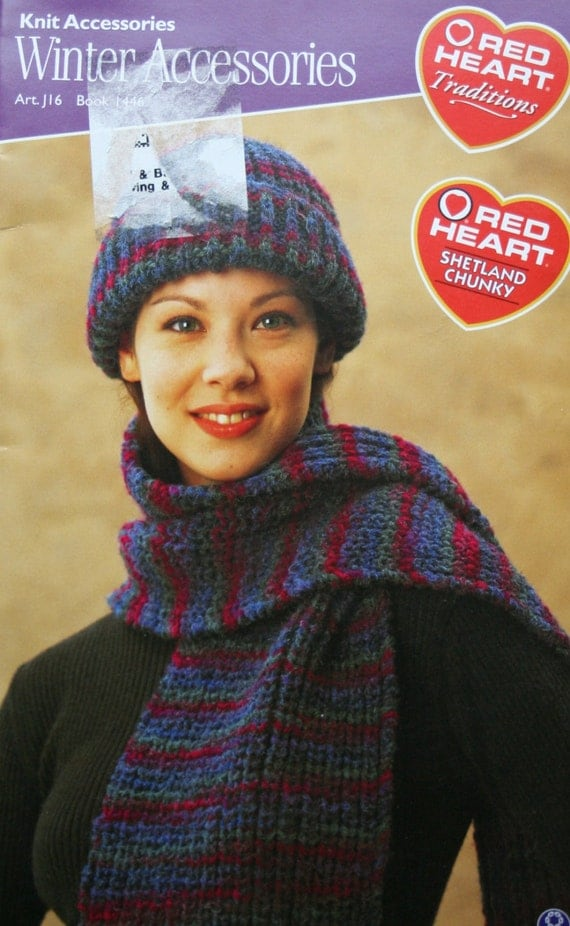 Knitting Patterns Winter Accessories Red Heart 1446 Socks