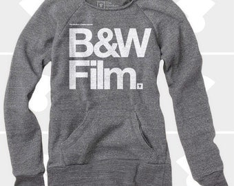 Black & White Film - Women's Slouchy Sweatshirt