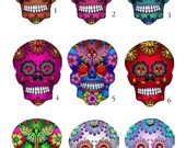 Mini Sugar Skull Decals - Small vinyl Day of the Dead Stickers