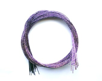 Mizuhiki Japanese Decorative Paper Strings Cords METALLIC Purple Silver