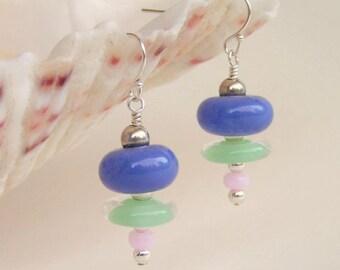 DESCEND - Artisan Lampwork Stack Earrings