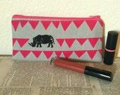 Black rhino zipper pouch