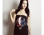 SPIDERMAN Shirt, Spiderman tube top, Handmade Comic Book shirt, Marvel comic shirt,  womens clothing