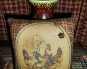 Primitive ROOSTER PILLOW TUCK Bowl Filler Decoration