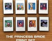 The Princess Bride, PRINT SET, Art, Eight 4 x 6 inch prints, movies, Rob Reiner, framed art, illustration, wall decor, William Goldman, gift
