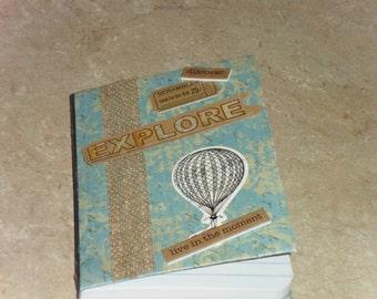Journal, Mini Journal, Pocket Journal, Prayer Journal, Writing Journal, Notebook, Altered Composition Book, Seasonal journal, Travel Journal