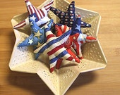 American Fourth of July Patriotic Star Bowl Filler Ornaments