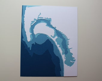 San Diego - original 8 x 10 papercut art