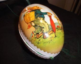 Vintage 80's Paper Mache German Easter Egg