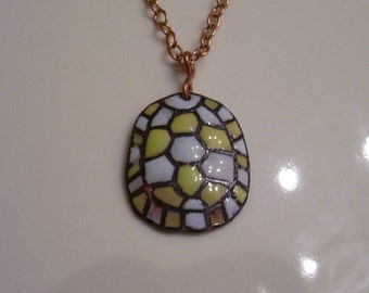 Enameled Turtle Shell Necklace