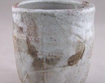 Wood Fired Yunomi Style Stoneware Cup With Shino Glaze