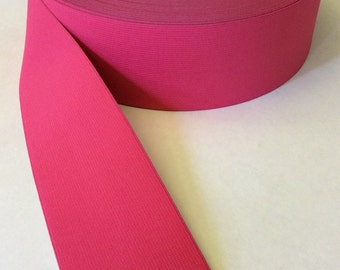 Coral pink elastic, 3 inches extra wide