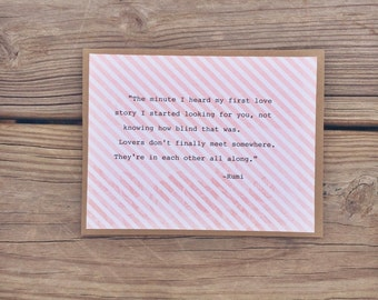 Love Quote Note Card