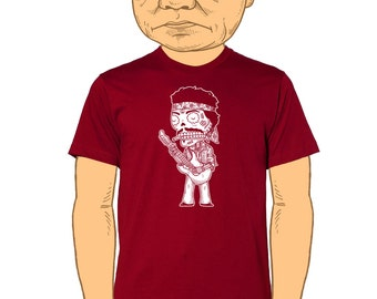 Jimi Hendrix Calavera Men's T-Shirt Small, Medium, Large, XL, XXL in 5 colors