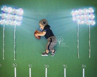 Crochet Football uniform helmet pants cleats set , crochet baby hat ,  Size newborn 0 3  6 12 months MADE TO ORDER