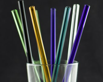 Glass Straw in You Choose the Color, Made to Order