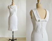 1960s White Sheath Dress --- Vintage Julie Miller Dress