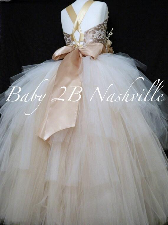 Gold Dress Burlap Dress Rustic Dress Flower Girl Dress Wedding Dress Lace Dress Toddler Tutu Dress Girls Dress Ombre Dress Party Dress