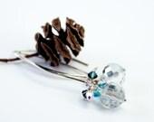Long and Elegant Crystal Drop Earrings, OOAK, Free US Shipping, Laura Mae Jewelry