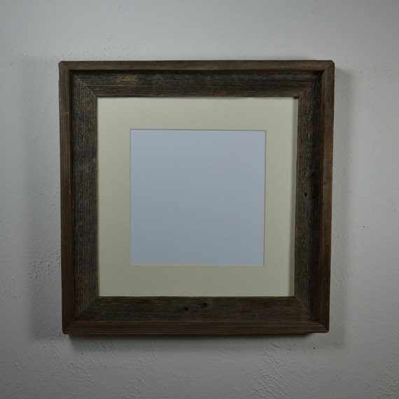 Square Frame 12x12 With 8x8 Off White Mat By Barnwood4u On