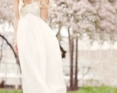 HARMONY: Goddess fairy wedding gown dress boho hippie beach chic budget simple alternative