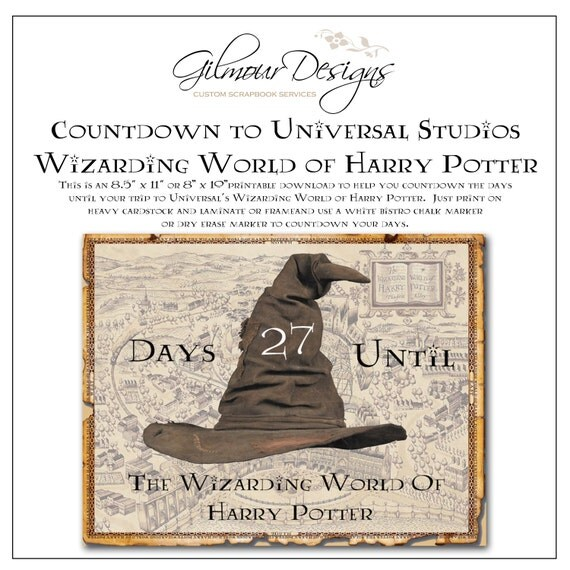Harry Potter Countdown With TIPS To Universals