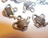 15 Pieces Tiny Silver Teapot Tea Pot Charms Pendants Jewelry Supplies Findings13mm Alice's Tea Party