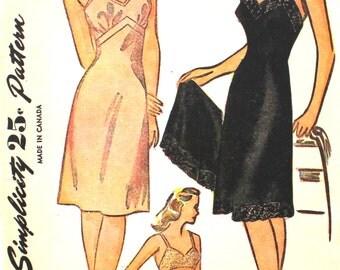 1940's Lingerie Pattern Bust 32 Simplicity 1144