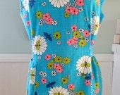 Colorful Vintage Floral Smock Apron