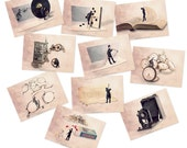 French Postcard set, Postcard set, Postcard collection, postcards, photographydream, Fun cards, Art postcards, steampunk decor,steampunk art