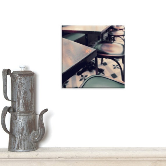 Wall Art Canvas, Photo Canvas Prints, Paris photography, Paris cafe Photo, Cafe photo, Paris, Brown Rustic Decor, parisian life