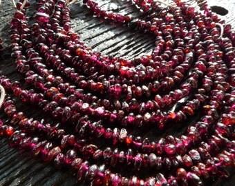 full strand garnet beads, garnet drops, garnet beads, garnet drop beads