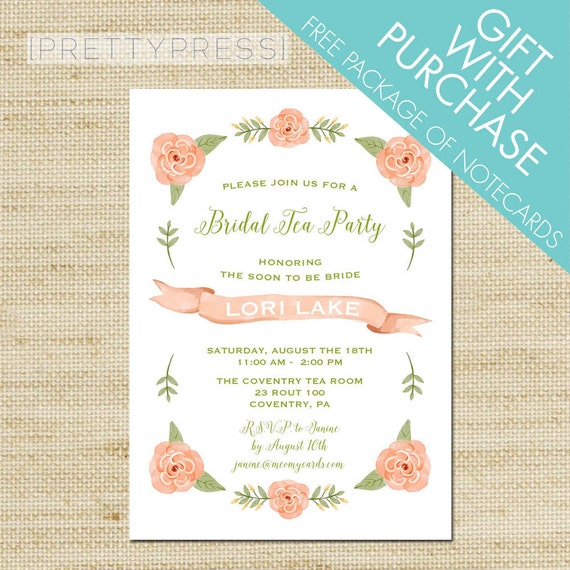Garden Tea Party Invitations Tea Party Baby Shower By
