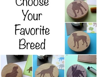 Choose Your Favorite Dog Breed - Hand Carved Rubber Stamp