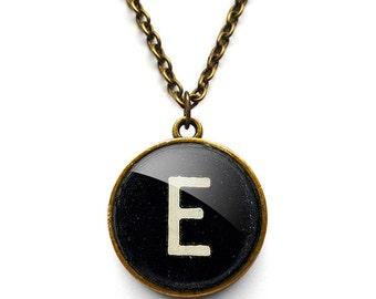 Personalised Initial Alphabet Typewriter Key Necklace