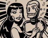 Robot Disco - Screenprint Tshirt