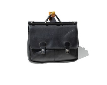 Coach Black Leather Briefcase