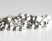 100 TierraCast 3mm Antiqued Fine Silver Hexagon Bead, Britannia Pewter, Silver Spacer Beads, Lead Free Metal Spacer Beads
