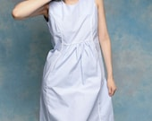 Powder Blue Scooter Dress with White Piping - M