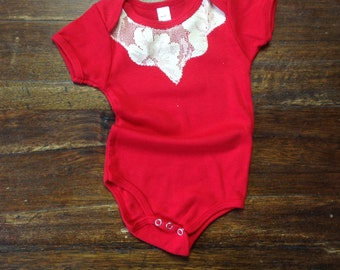 Red Lace Onesie